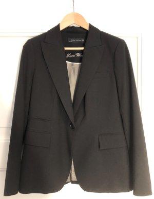 Zara Blazer de esmoquin negro-color plata