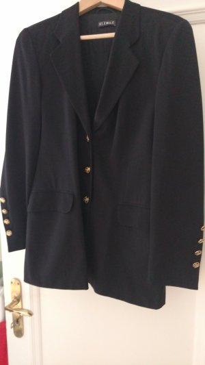 Klassischer schwarzer Blazer von St Emile Gr 40