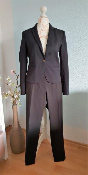 klassischer, schwarzer Hosenanzug, Business-Anzug von H&M