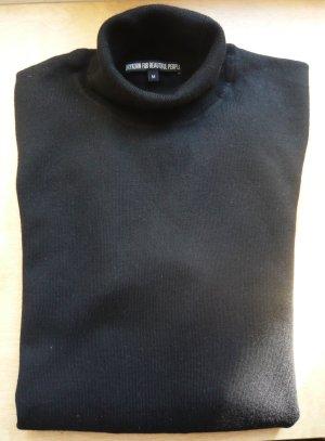 Klassischer schwarzer Rollkragenpullover von Drykorn