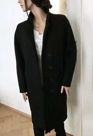 H&M Premium Abrigo de lana negro Lana