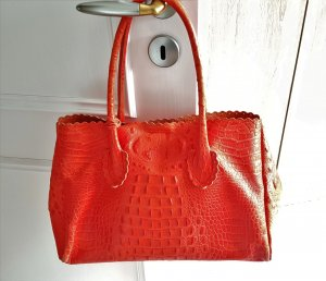 Furla Shopper orange leather
