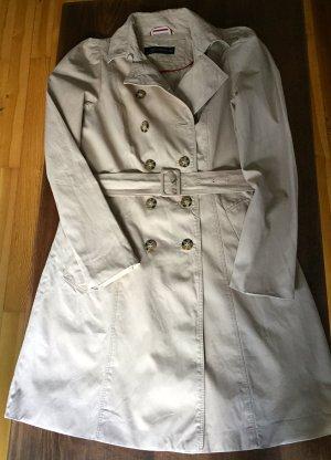 Klassischer Trenchcoat beige mit kleinen Puffärmeln von Zara in Gr. M