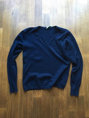 Klassischer V-Neck Pullover, benetton Gr. S