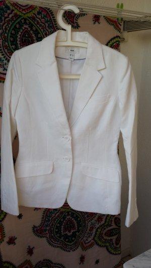 Klassischer weißer Blazer von H+M Gr. 38
