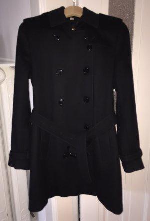 Klassischer Woll-Kashmir-Mantel von Burberry, schwarz, Gr. 38