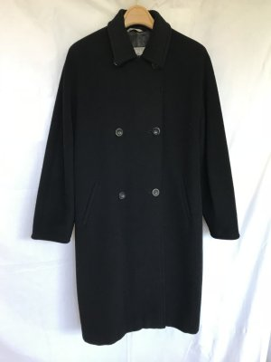 Klassischer Wollmantel von Max Mara in schwarz