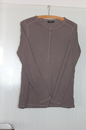 klassisches Basic-Langarmshirt mit Knopfleiste