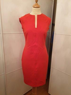 Zara Robe crayon orange fluo-rouge clair
