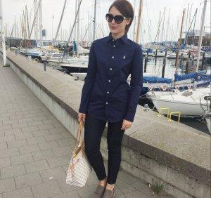 Polo Ralph Lauren Chemise à manches longues bleu coton