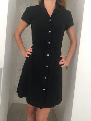 Klassisches Hemdblusenkleid in Schwarz