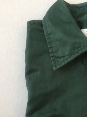 0039 Italy Shirtwaist dress dark green cotton