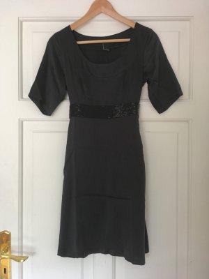 Klassisches kleines Schwarzes, Vero Moda Satin Kleid, XS/S 34/36