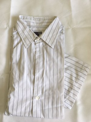 H&M Short Sleeve Shirt white-black mixture fibre