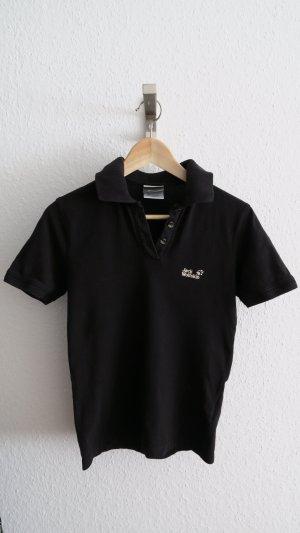 Jack Wolfskin Camiseta tipo polo negro