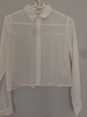 Klassisches weißes Hemd, leicht transparent, muss nicht gebügelt werden