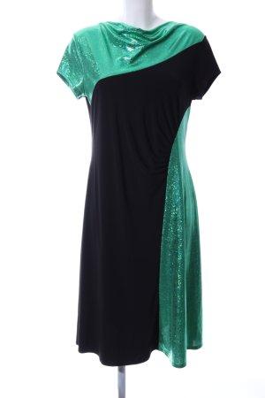 Klaus Modelle Midikleid grün-schwarz Elegant
