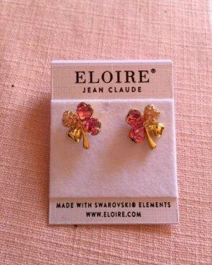 Kleeblatt Ohrringe mit Kristallen von Swarovski