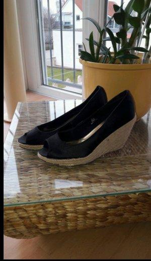 H&M Sandalo nero-crema