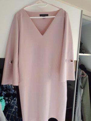 Amisu Robe à manches longues crème-vieux rose