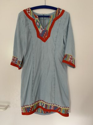 Engelbert Strauss Abito blusa camicia azzurro-rosso