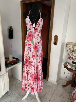 0039 Italy Midi Dress white-pink
