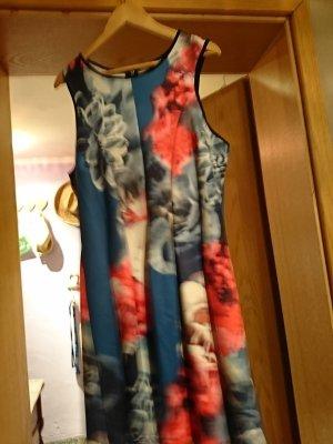 Vestido de tela de sudadera azul