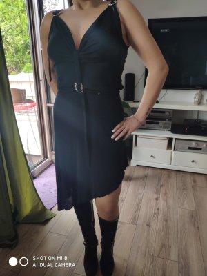 Aigner Vestido de manga corta negro