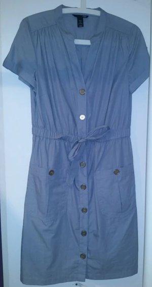 H&M Robe chemise blanc-bleu