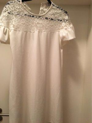 Queen vestido de globo blanco