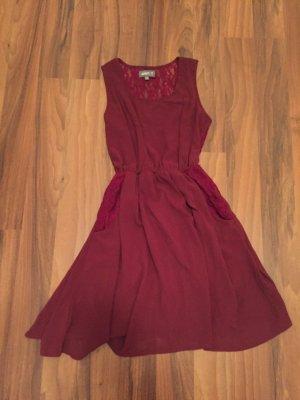 Apricot A Line Dress bordeaux