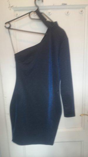 Amisu One Shoulder Dress dark blue