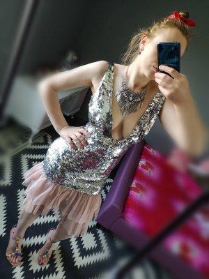 Asos Midi-jurk zilver-roze