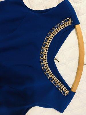 Falda estilo lápiz azul