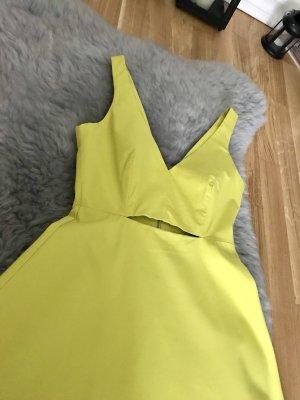 Zara Vestido de noche amarillo-amarillo neón
