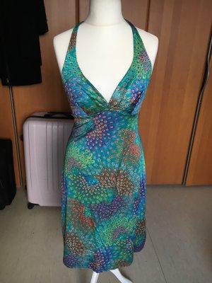 Vestido de cuello Halter turquesa