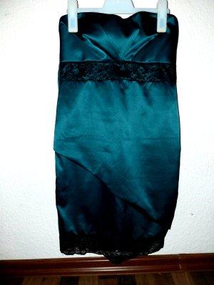 Amisu Off-The-Shoulder Dress black-petrol