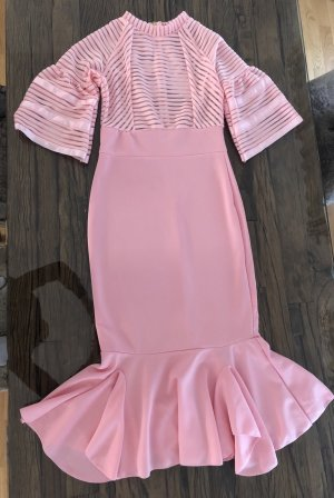 Midi-jurk roze