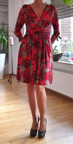 Zara Basic Robe portefeuille rouge brique