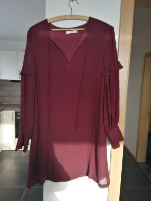 Robe Sweat rouge foncé-bordeau