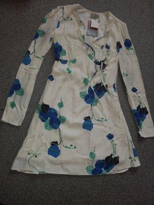 Chiffon Dress white-blue
