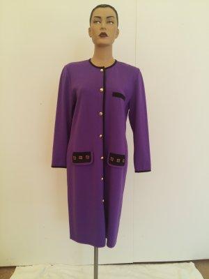Robe manteau violet tissu mixte