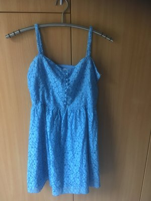 Ann Christine Pinafore dress neon blue