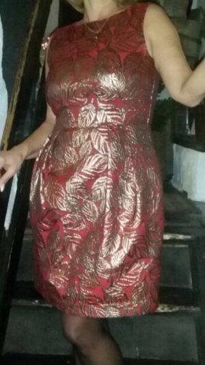 Hallhuber Robe de cocktail rouge brique