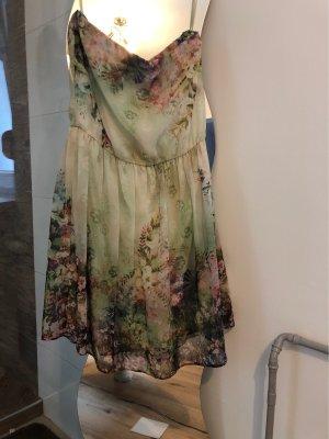 Zara Trafaluc Fringed Dress lime-green