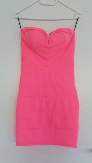 Tally Weijl Vestido bustier rosa neón