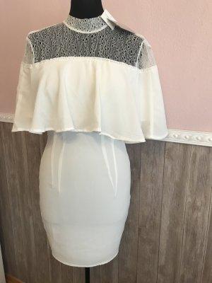 Kleid 36 S neu weiß Missguided spitze