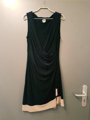 Anne Klein Vestido negro-crema