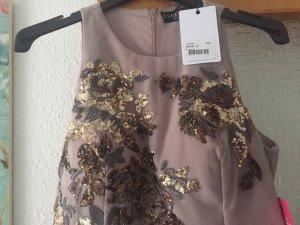 Little Mistress Chiffon jurk roségoud