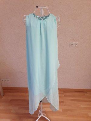 Volante jurk lichtblauw